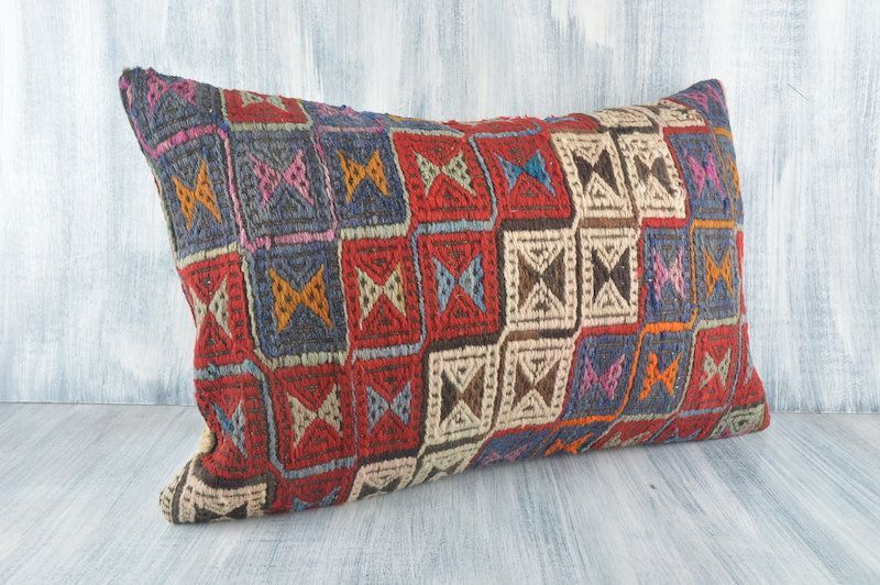 Turkish Kilim Pillow 16x24 Pillow Cover Ethnic Aztec Pillow Bohemian Kilim Pi  Turkish Kilim Pillow 1624 Pillow Cover Ethnic Aztec Pillow Bohemian Kilim Pillow Handwoven...