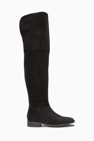 Buy Black Clean Over The Knee Boots from the Next UK online shop ...