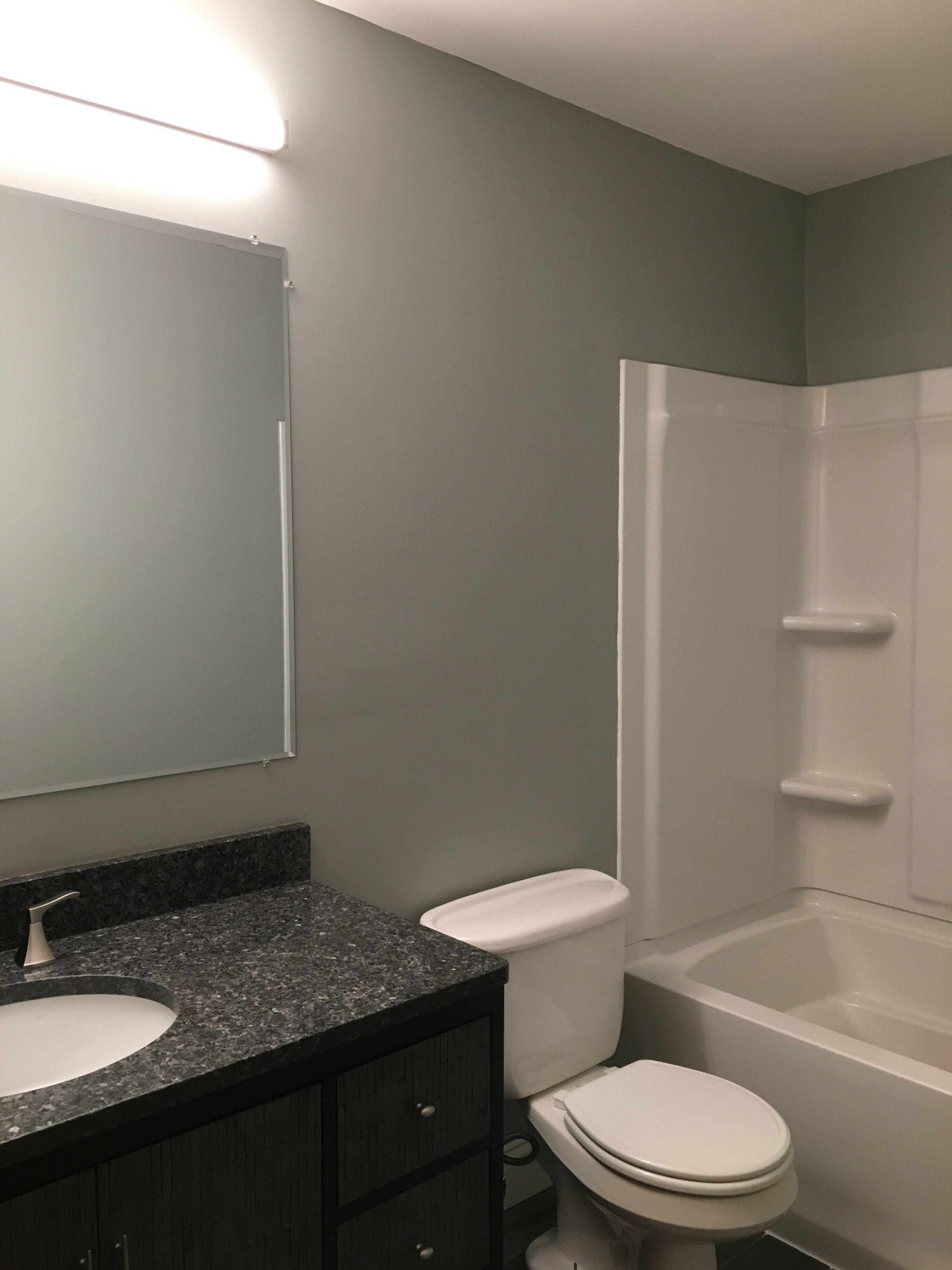 Our bathroom during remodel... blue pearl granite ...