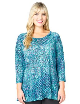 37f561eb3c4 Tianello Plus Hermosa Burnout Livia Tunic