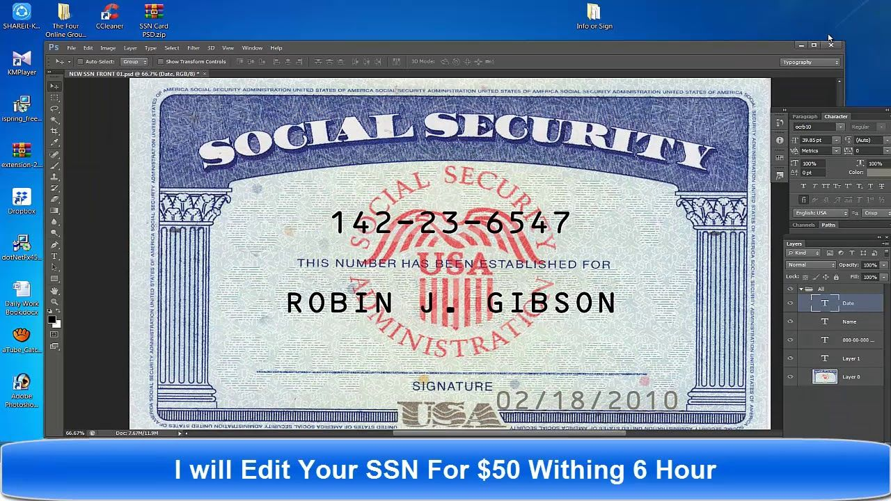 The Glamorous Fake Social Security Card Template Download Pertaining To Social Security Card Te Social Security Card Card Template Free Business Card Templates
