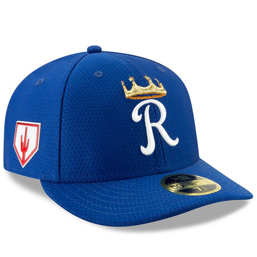 87cfb3dc5 Men's Kansas City Royals New Era Royal 2019 Spring Training Low ...