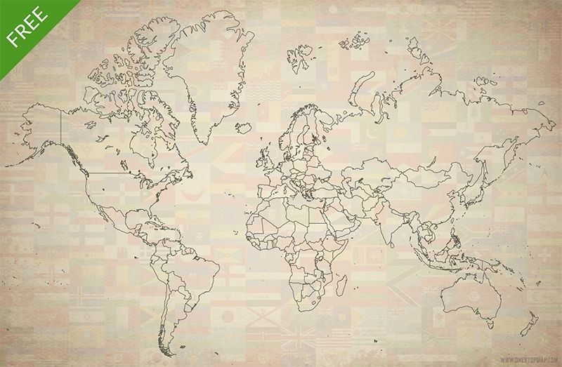 free printable vector world map map is layered accurate has every country selectable