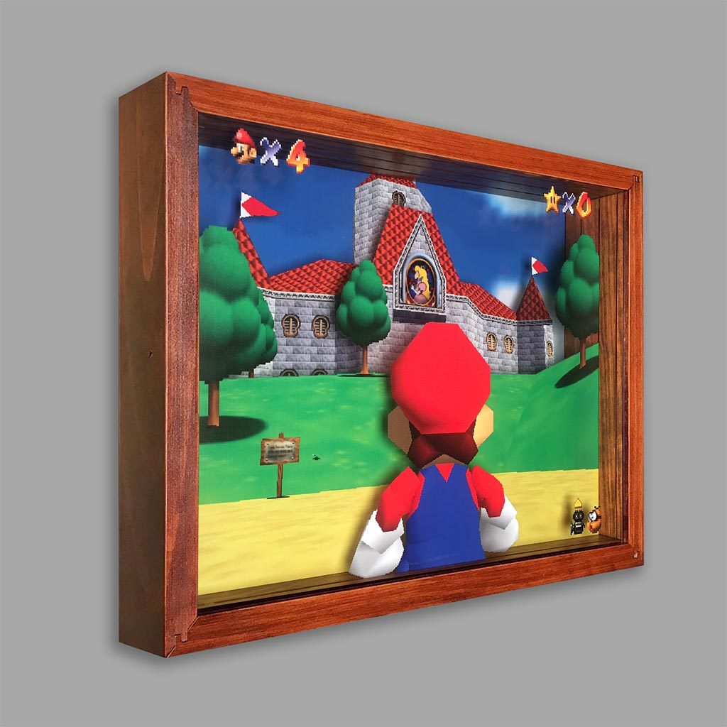 Super Mario 64 Shadowbox Art Shadow Box Art Shadow Box Box Art