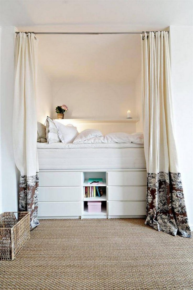 9 idées pour adopter le lit estrade  cozy small bedrooms