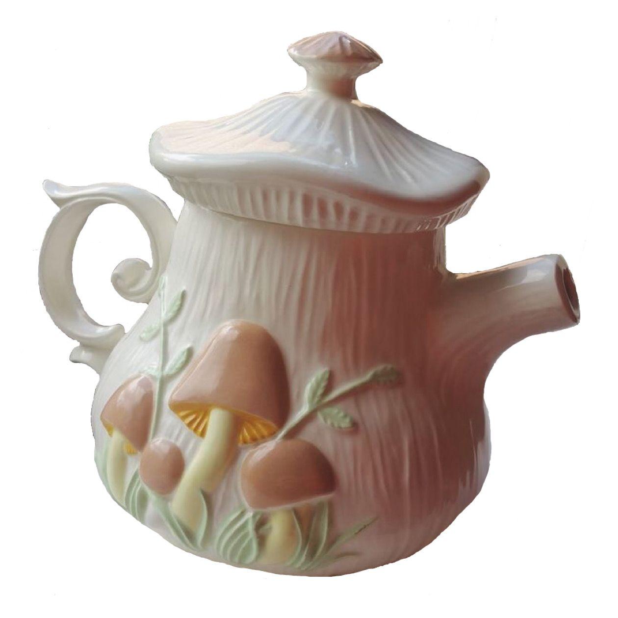 Mushroom Teapot Png Pottery Tumblr Stickers Tea Pots