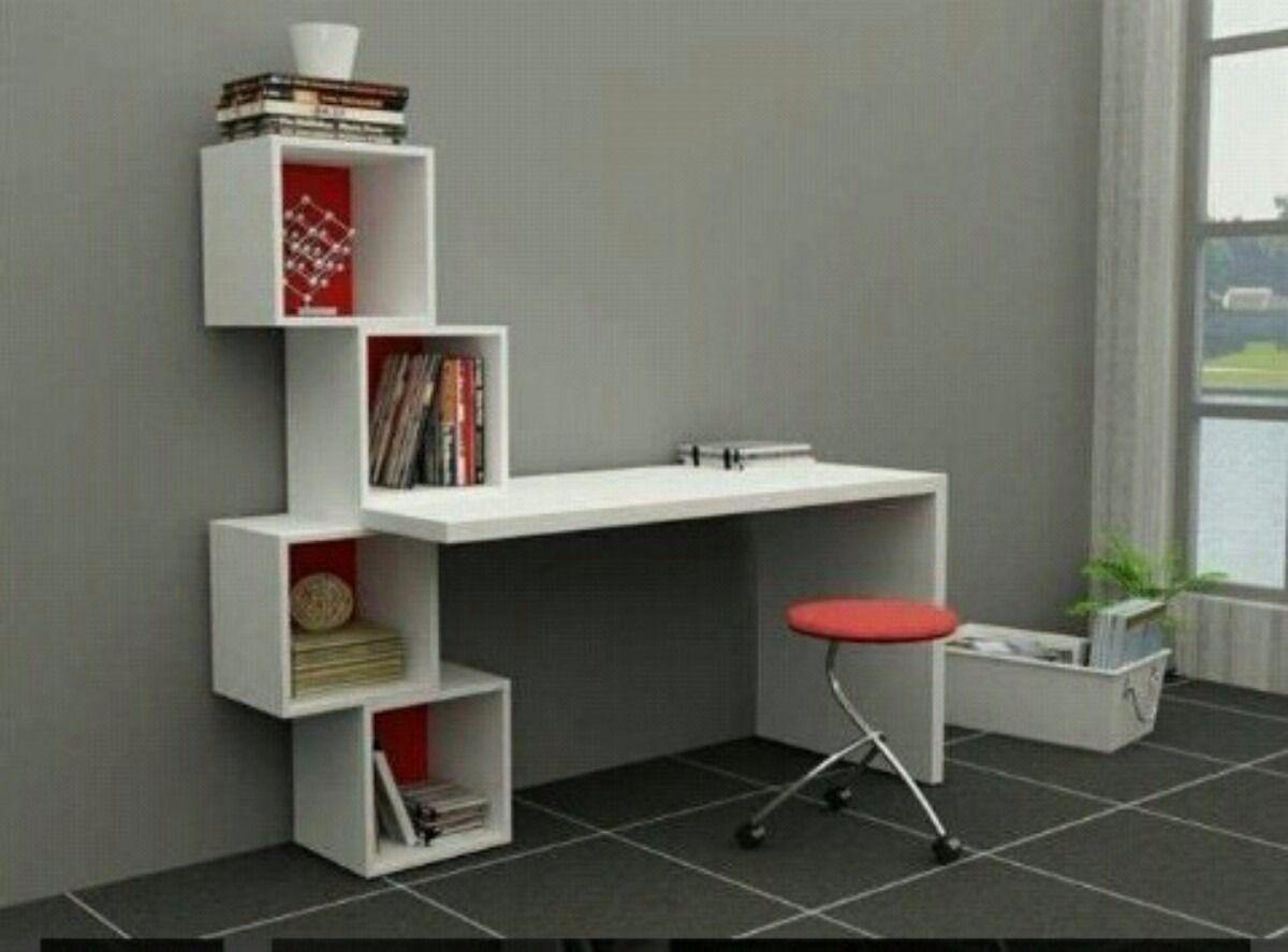 Escritorio moderno minimalista mesa para pc con cubos for Escritorios modernos