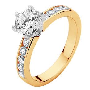 Encore Yellow Gold Engagement Rings | Brilliant Cut