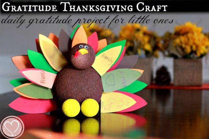Thanksgiving Turkey Gratitude Craft for Little Ones
