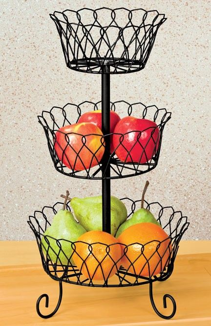 Decorative Wire Basket E2137; Can Be Used In The Kitchen Or On The Bathroom  Counter