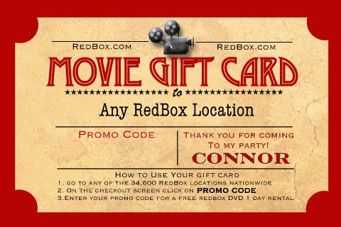 Show Time A Movie Themed Birthday Party Birthday Party Themes Redbox Gift Card Movie Birthday