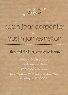 wedding invitation for appetizer and dessert reception - Google ...