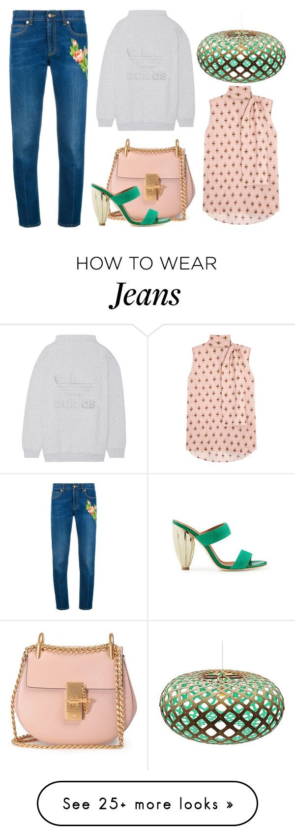 """""""Untitled #8561"""" by cherieaustin on Polyvore featuring Chloé, Gucci, adidas Originals, Malone Souliers, Valentino and David Trubridge"""