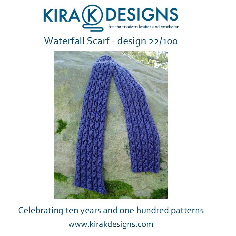 Waterfall Scarf Knitting Pattern For Lace Scarf Choose A Drapey