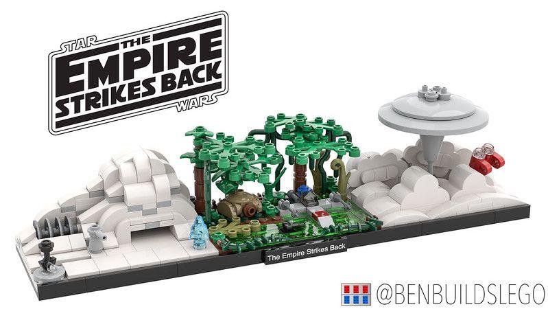 Lego Star Wars The Empire Strikes Back Skyline Moc Lego Star Wars Mini Lego Star Wars Lego Star