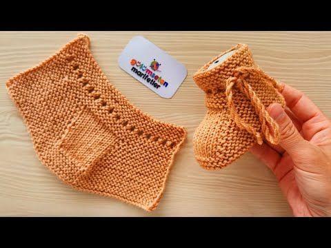Photo of . Newborn baby booties socks model knitting pattern –  Newborn baby booties / Ba…