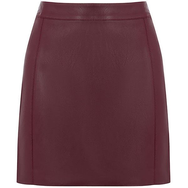 d11b723fa FAUX LEATHER SEAMED MINI SKIRT ($45) ❤ liked on Polyvore featuring skirts, mini  skirts, leather look skirt, purple skirt, mini skirt, short skirts and ...