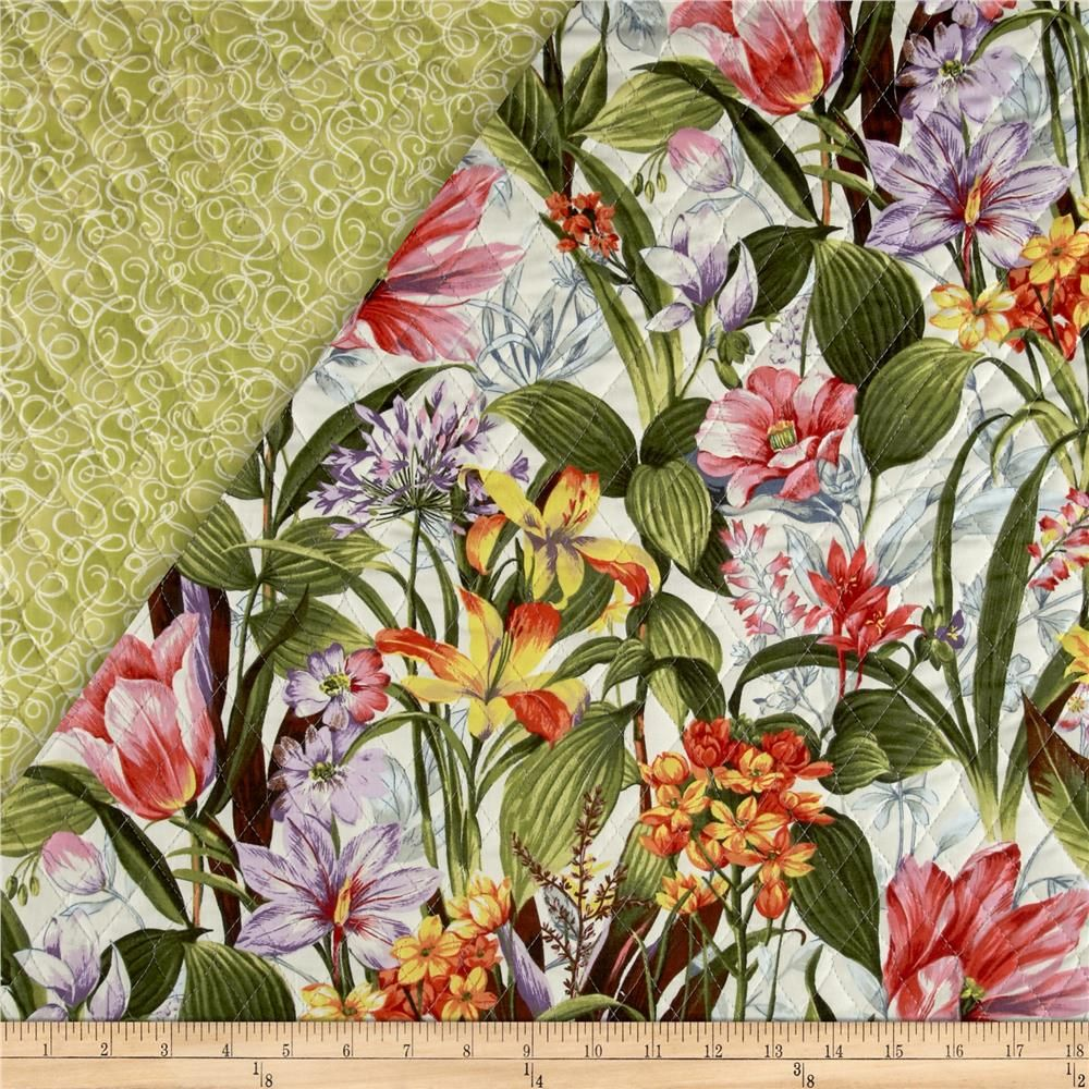 Botanical Society Large Floral Double Sided Quilted from ... : double sided quilt - Adamdwight.com
