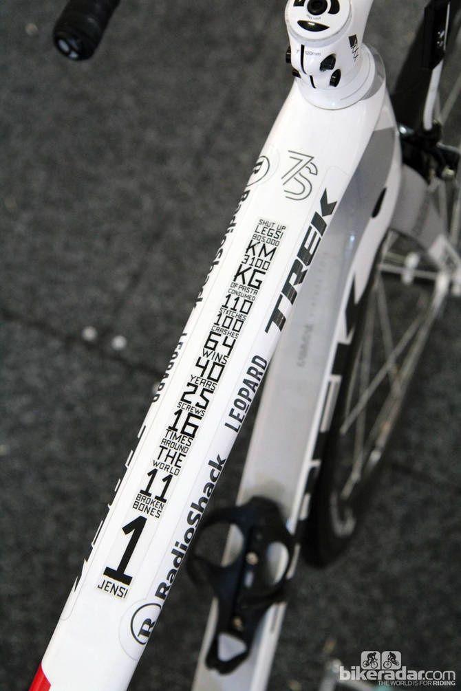 Jens Voigt Top Tube Trek Madone Pro Bike Jens Voigt