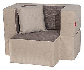 Tavolino Poggiapiedi ~ Poltrona modulare tavolino poggiapiedi in poliuretano beige grigio