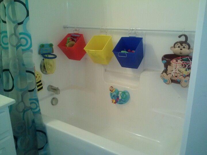 6 shower rod 1 buckets from dollar