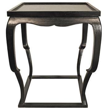 Best Noir Bellini Global Bazaar Black Wood Side Table Black 400 x 300