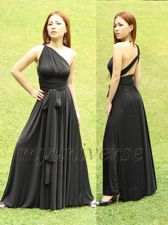 Convertible Wrap Formal Dress Black Infinity Dress Maxi Dress ...