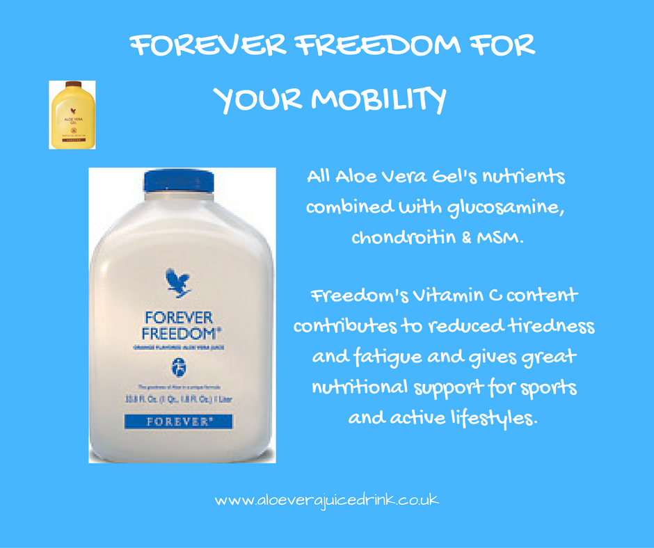 Take Forever's bestselling Aloe Vera Gel, add glucosamine, chondroitin, MSM and vitamin C and the orange-tasting result is Forever Freedom. Great for mobility and as nutritional support for sports and active lifestyles. More about all Forever's health drinks here: https://www.facebook.com/aloeverajuicedrink/ #aloeverajuicedrink #aloeverajuice