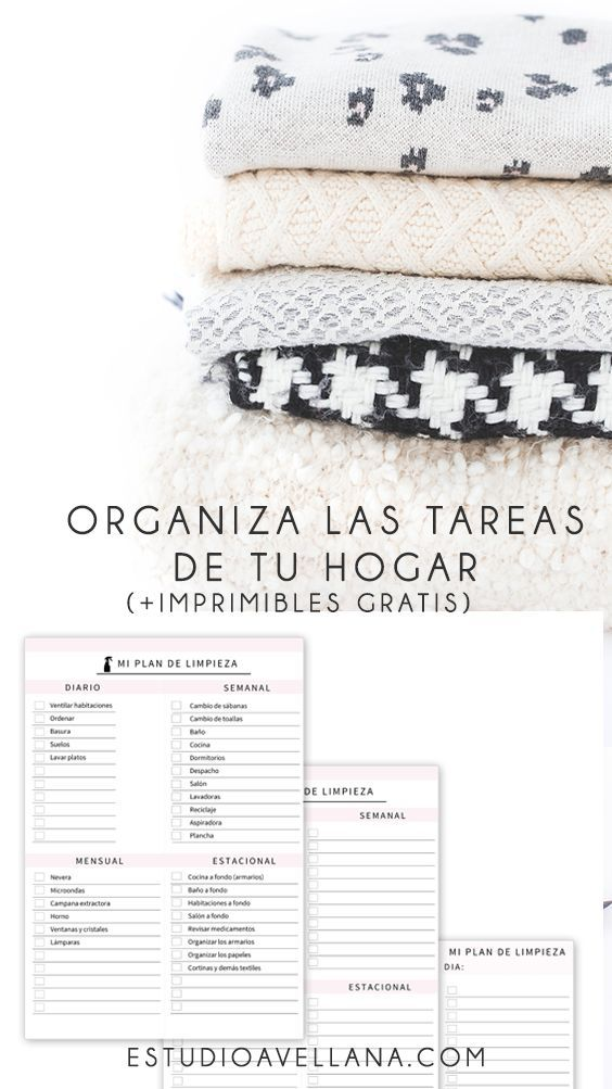 Organizar las tareas del hogar imprimibles planner - Trabajo para limpiar casas ...