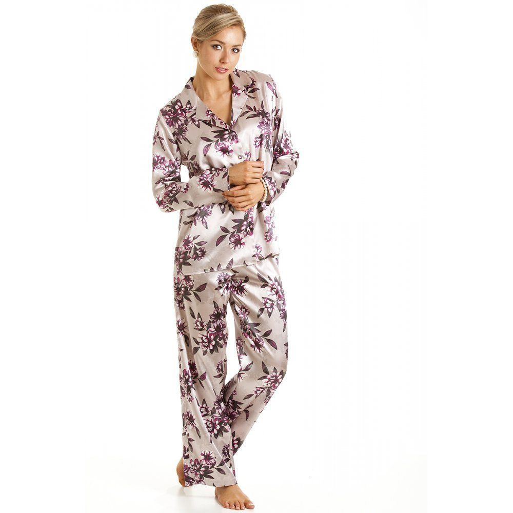 Black Satin Pajamas For Women | fashjourney.com | Satin Pajamas ...