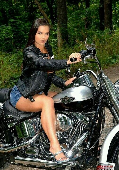 Biker milf ready to ride