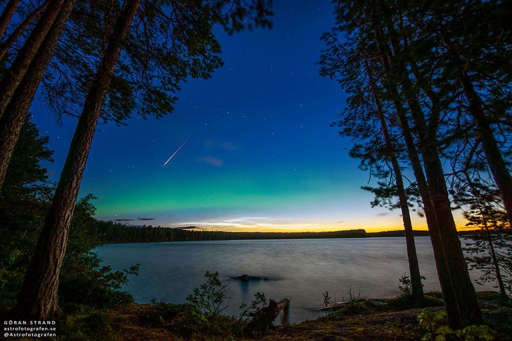 Perseid Aurora and Noctilucent Clouds #space #nasa https://t.co/w5qTkTxhIQ