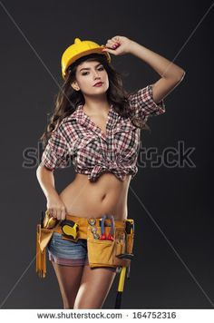 female construction worker costume - Google Search | Lucky mine ...