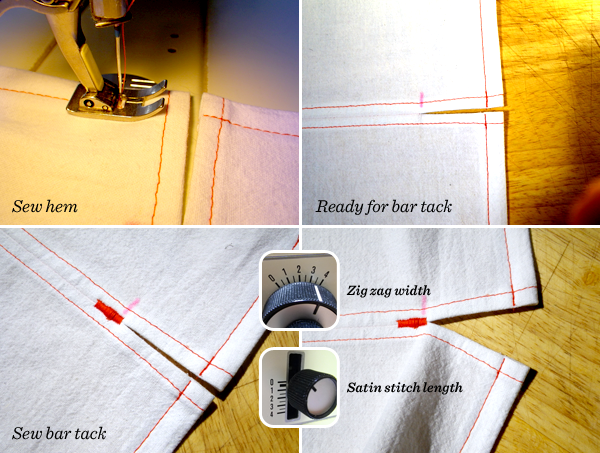 Tutorial Turn Topstitch An Easy Vented Split Hem Includes Info Adorable Satin Stitch On Sewing Machine