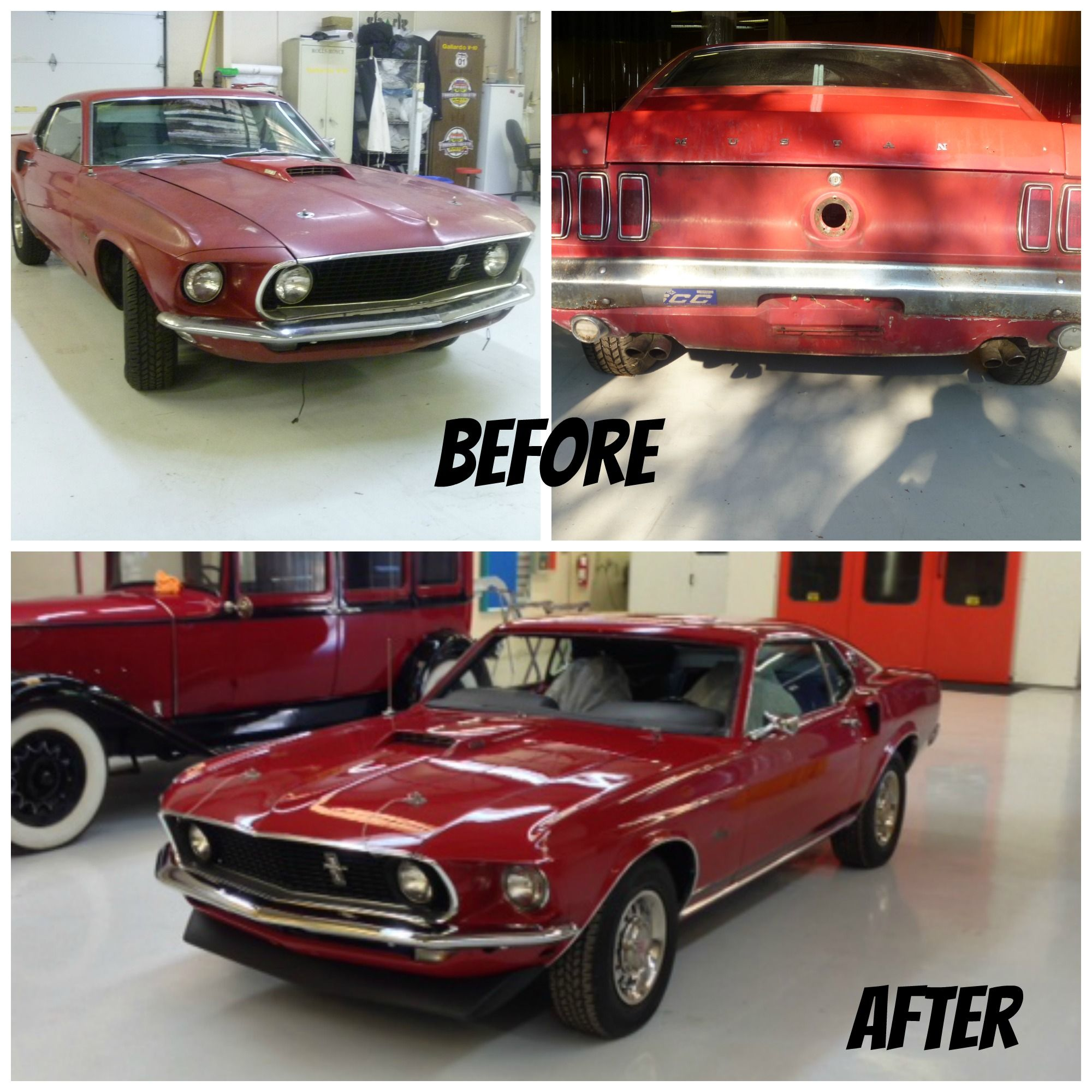 Mustang Before And After Restoration Before And After