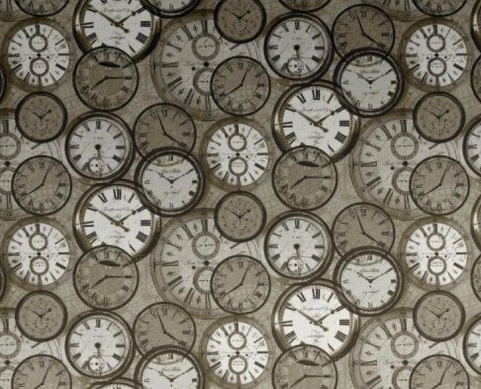 Beautiful Retro Clock Wallpaper