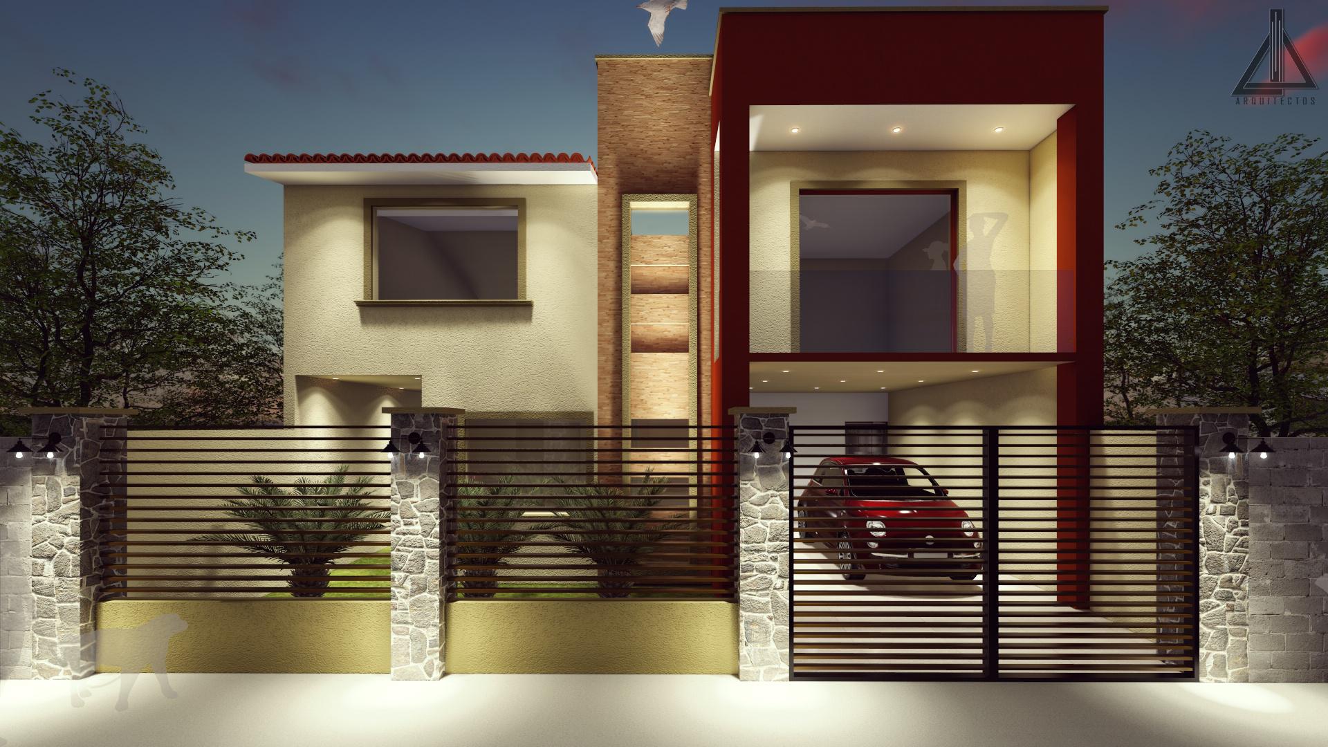 Fachada Casa Habitaci N Propuesta Proyectos