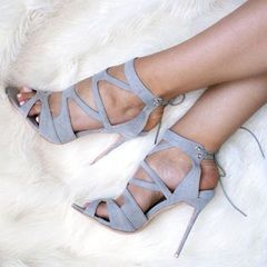Shoespie Awesome Lace Up Caged Chunky Fashion Booties