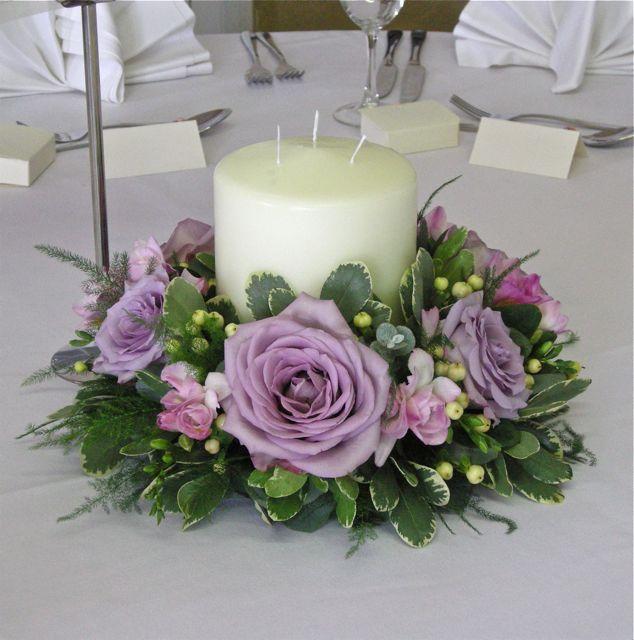 Vintage Flower Arrangements For Wedding: Low Table Centre In Vintage