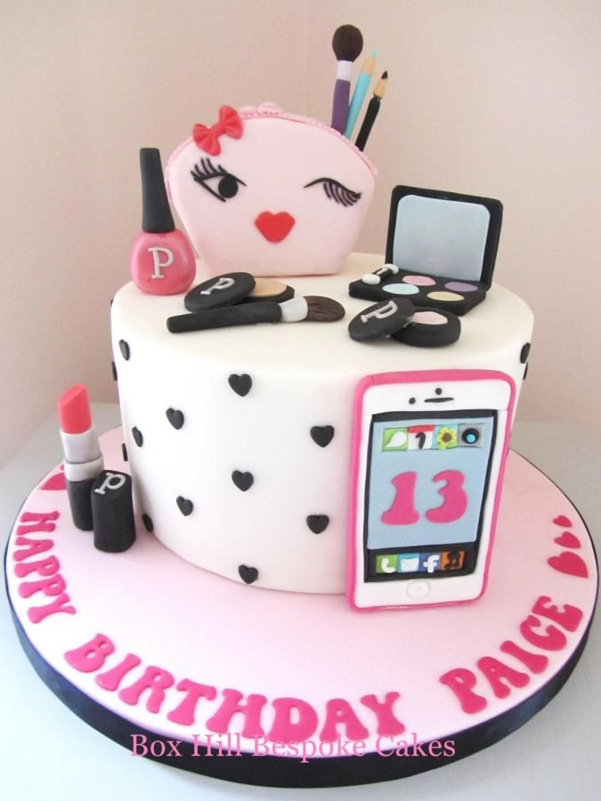 Make Up Phone Cake By Noreen Box Hill Bespoke Cakes With