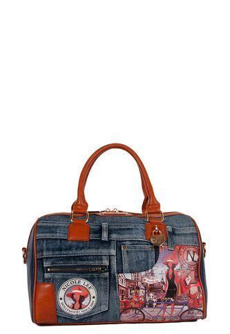 d574d6b24 Wanda Boston Bag Jeans Nicole Lee Nicole Lee   Bolsas nicole lee ...