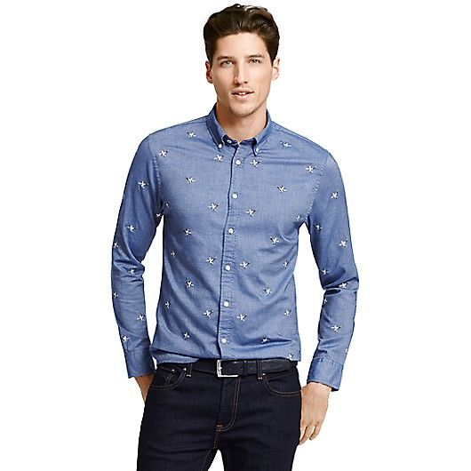 c93bdc5e5 Image for NEW YORK FIT DUCK CHAMBRAY SHIRT from Tommy Hilfiger USA Casual  Shirts For Men