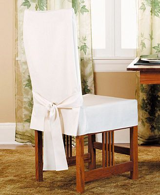 Sure Fit Short Dining Room Chair Slipcover Solution For Our Ripped Leather Chairs
