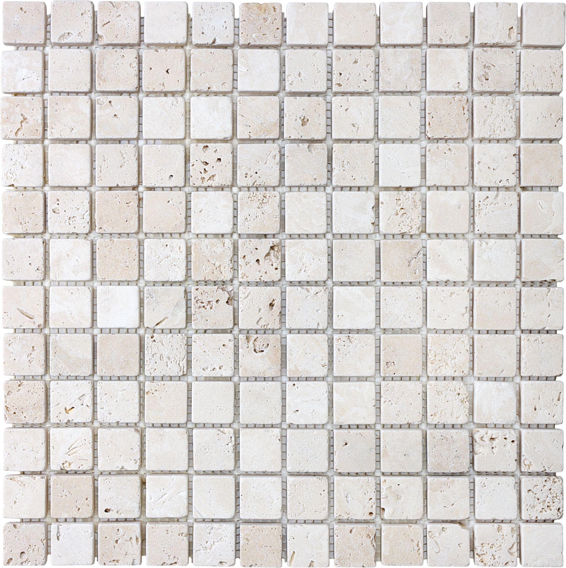 1 X1 Tumbled Travertine Mosaic Tile Www Anatoliatile Com Travertine Travertine Mosaic Tiles Home Depot Canada