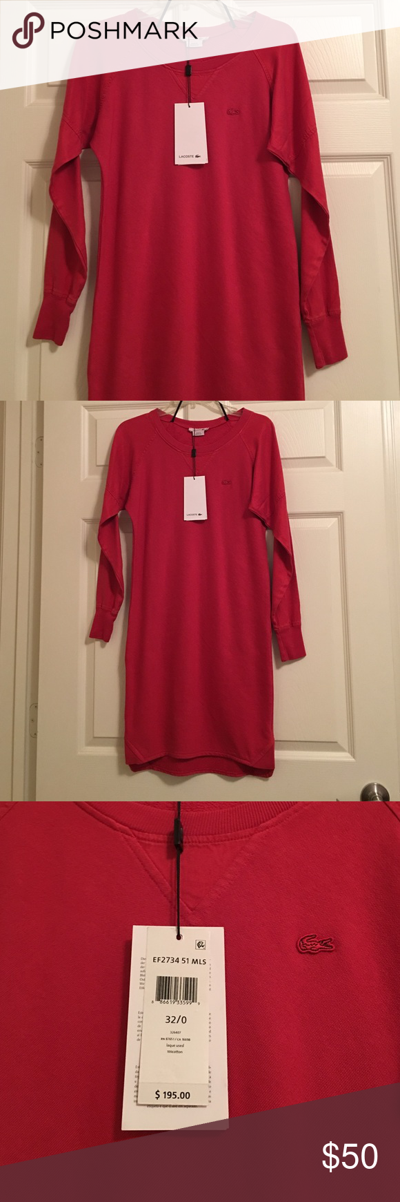 Lacoste 🐊 long sleeve dress nwt price is firm Brand new dress nwt Lacoste Dresses Long Sleeve