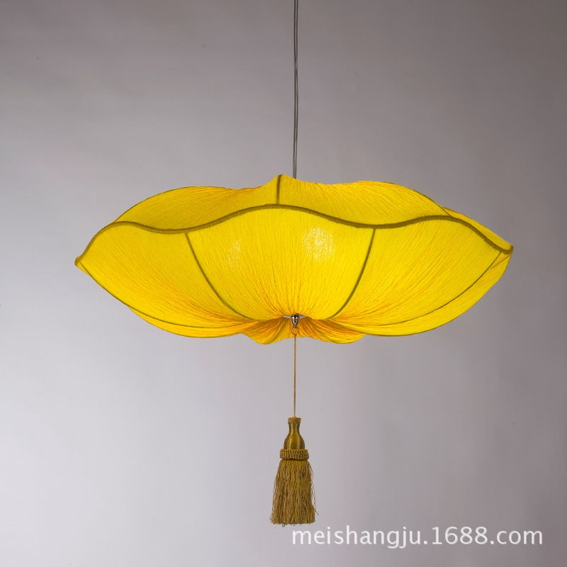 Wholesale lotus lamp chinese lantern marine fabric pendant lamp wholesale lotus lamp chinese lantern marine fabric pendant lamp romantic bedroom hotel restaurant aisle stairs work mozeypictures Images
