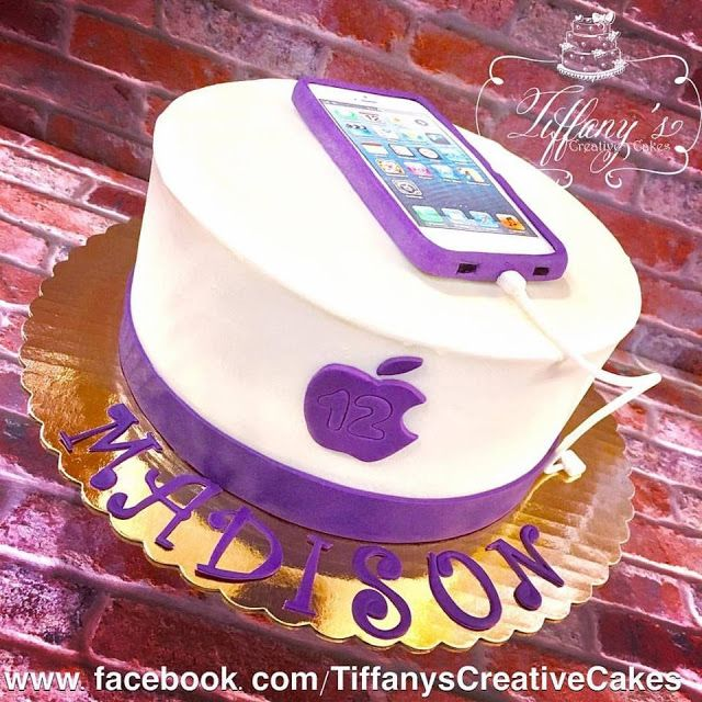 Iphone Birthday Cake Springboro Ohio Tiffanys Creative Cakes