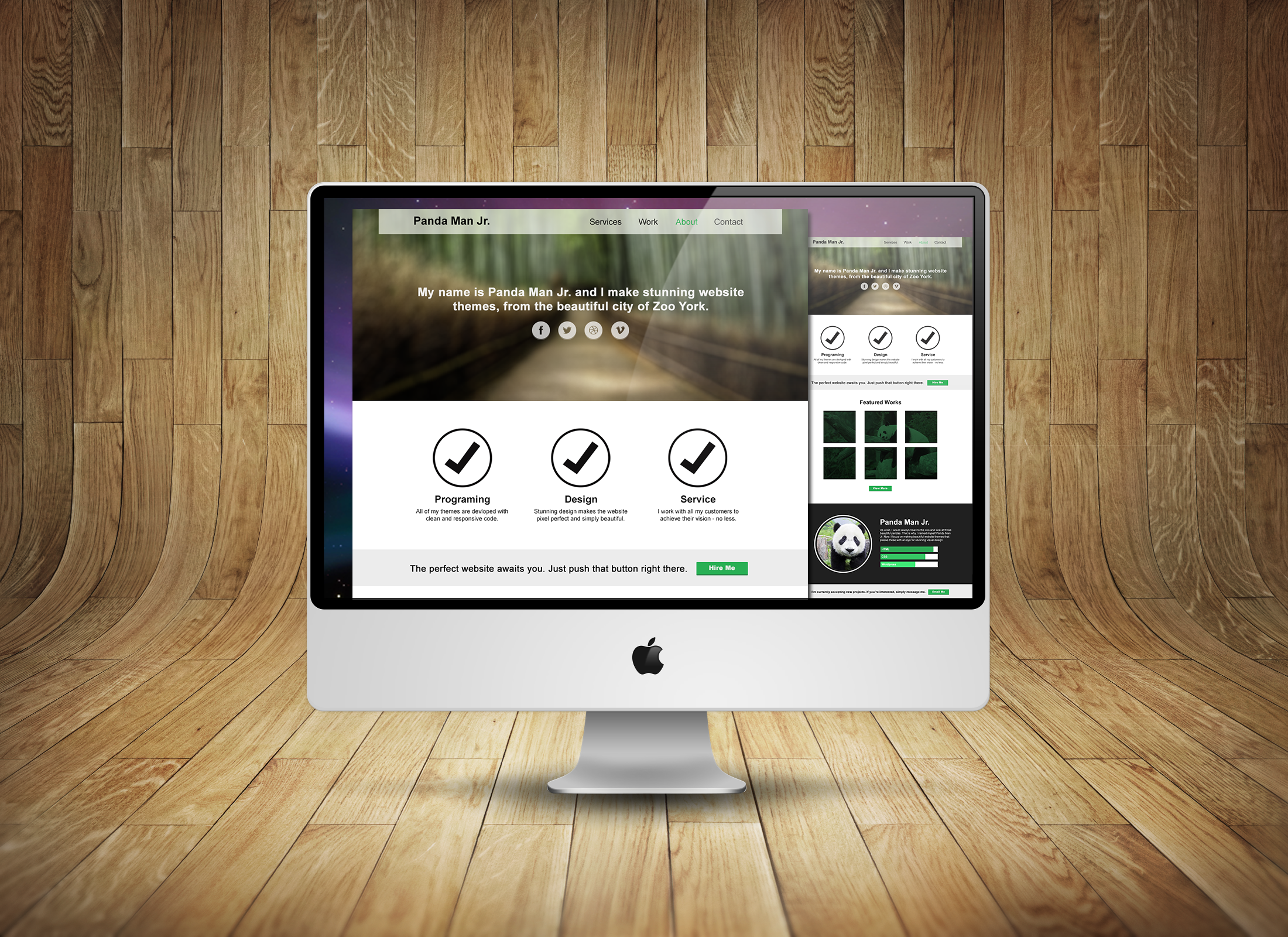 Free PSD-One Page Website Template For Designers | http://www ...