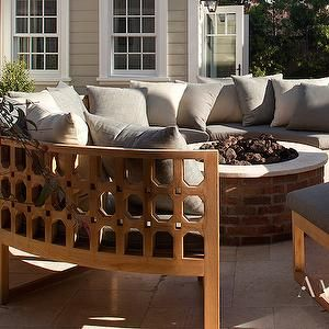 Curved Outdoor Sofa Transitional Deck Patio Amy Meier Design