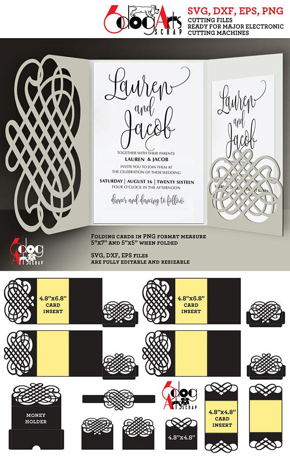 Calligraphic lace card templates digital cut svg dxf files wedding calligraphic lace card templates digital cut svg dxf files wedding invitation stationery cuttable download silhouette cricut stopboris Image collections